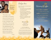 Tri-Fold Full Color Brochure for Mommy's Light Non-Profit Organization