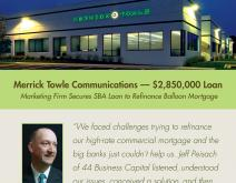 Postcard Featuring Top Loan Story for SBA Lending Firm